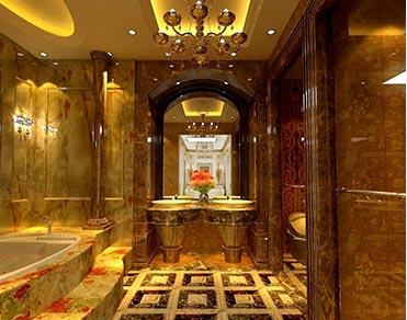 迪厅卫生间台面装修完美搭档—荆宜人造透光石