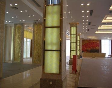 酒店绿色环境保伴侣—上海荆宜自然石透光板
